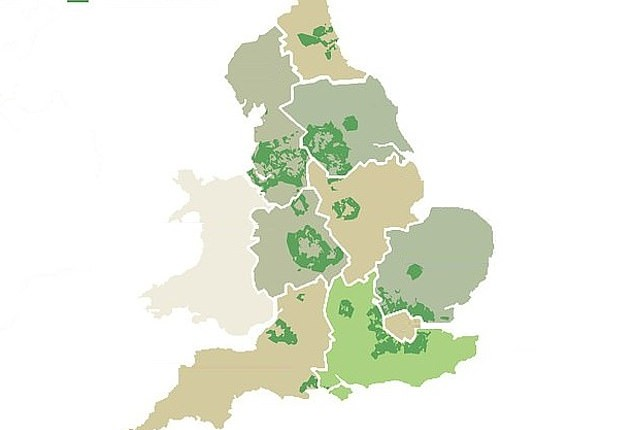 Parts of England's green belt may be disappearing but it's not houses that are to blame