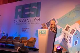 Housing minister Esther McVey makes her first public address at RESI 2019